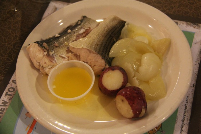 Fish Boil Plate At Rowleys Bay