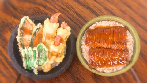 These tempura and unagi donburi are actually miniature sugar cookies. (Photo: @chi__koko/Instagram.)