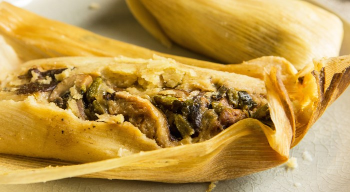 mushroom and poblano tamales recipe