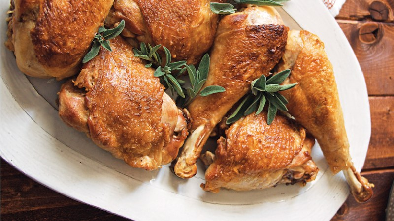 White wine braised turkey legs recipe