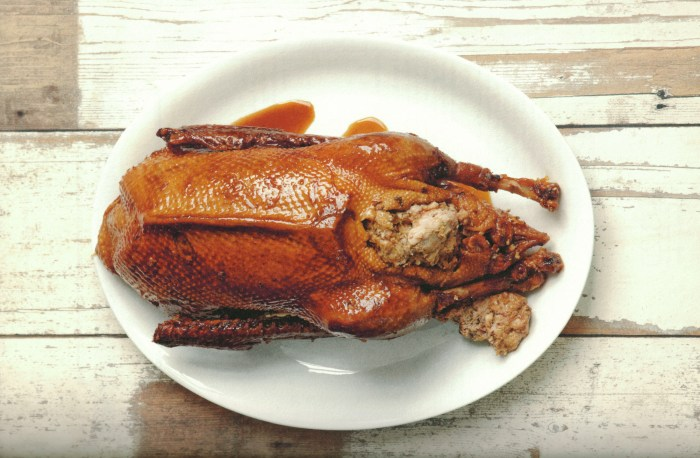 Stuffed Christmas Goose