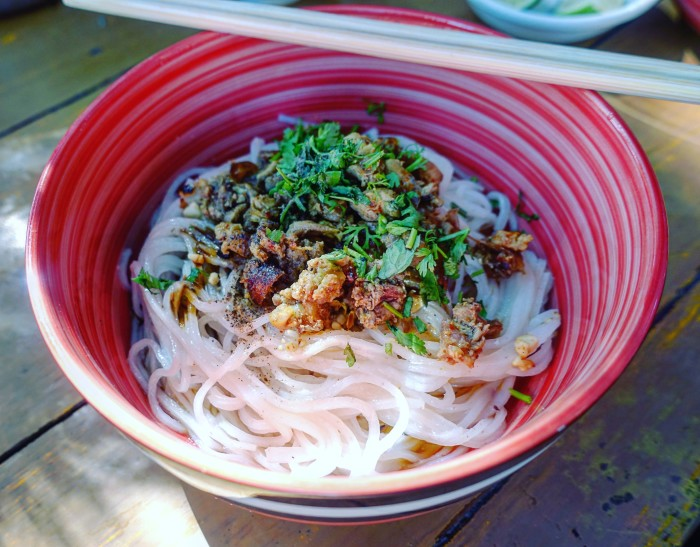 Shan noodles are also a common breakfast item.