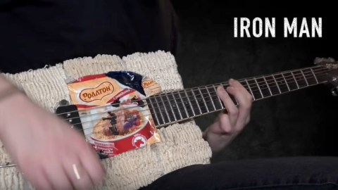guitar made of ramen