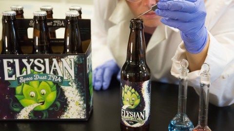 Elysian Brewing has made a special batch of their flagship IPA with actual space dust. (Photo courtesy of Elysian Brewing.)