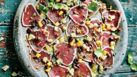 Tuna Carpaccio With Capers