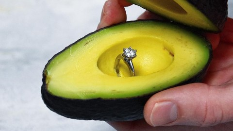 proposing with avocado