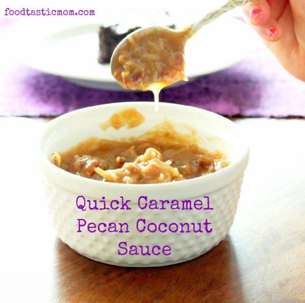 Quick Caramel Pecan Coconut Sauce