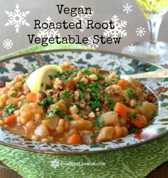 Vegan Roasted Root Vegetable Stew
