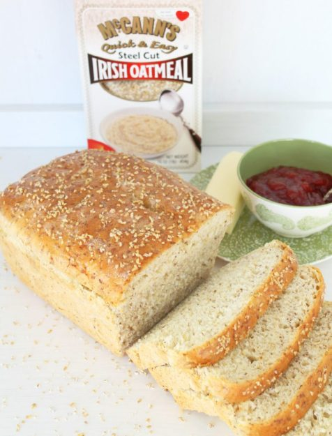 Irish Oatmeal Bread by Foodtastic Mom