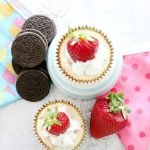 White Chocolate Strawberry Mini Cheesecakes