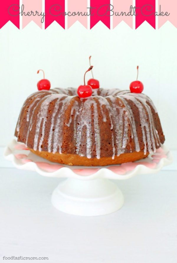 Coconut Cherry Bundt Cake by Foodtastic Mom