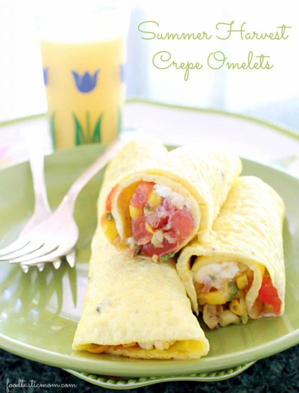 Summer Harvest Crepe Omelets by Foodtastic Mom