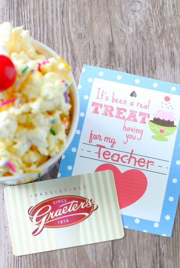 Teacher Gift with Free Printable by Foodtastic Mom