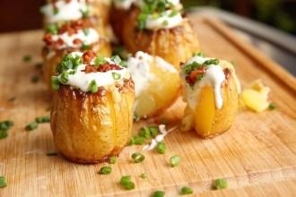 Kartoffelblumen mit Bacon und Käse