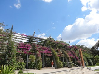 South Bank Parklands, Brisbane, opened in 1992 on the site where World Expo 88 was held.