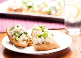 FEATURE crab pea bruschetta