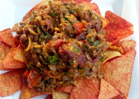 Background turkey-chipotle nachos