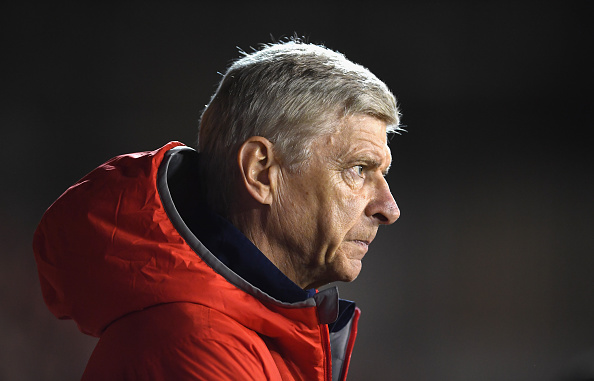 during the EFL Cup Third Round match between Nottingham Forest and Arsenal at City Ground on September 20, 2016 in Nottingham, England.