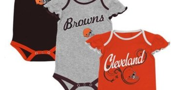 cleveland browns onesie, cleveland browns creeper, cleveland browns baby 12m 12 mo