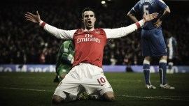 Robin van Persie (Dutch pronunciation: [ˈrɔbɪn vɑn ˈpɛrsi] ( listen); born 6 August 1983) is a Dutch footballer who plays as a striker for Manchester United and the Dutch national team. He is a youth product of Feyenoord. Having joined Arsenal in 2004, Van Persie became the club captain on 16 August 2011, one year before he joined rivals Manchester United. His playing style and ability have drawn comparison to Dutch legend Marco van Basten at his peak in the 1980s and early 1990s. The son of two artists, Van Persie was encouraged to follow in his parents' footsteps, but he instead preferred football and joined SBV Excelsior's youth squad. He made his breakthrough at another hometown club Feyenoord, where he spent three seasons and won the 2002 UEFA Cup. He was named the Dutch Football Talent of the Year for the 2001–02 season. Disagreements with manager Bert van Marwijk culminated in a change of club and Van Persie moved to Premier League side Arsenal for £2.75 million in 2004 as a long-term replacement for Dennis Bergkamp. He won the FA Community Shield and the FA Cup in his first season with the London club but did not win another major trophy for the rest of his eight-year spell at Arsenal. Van Persie has been named Premier League Player of the Month three times.