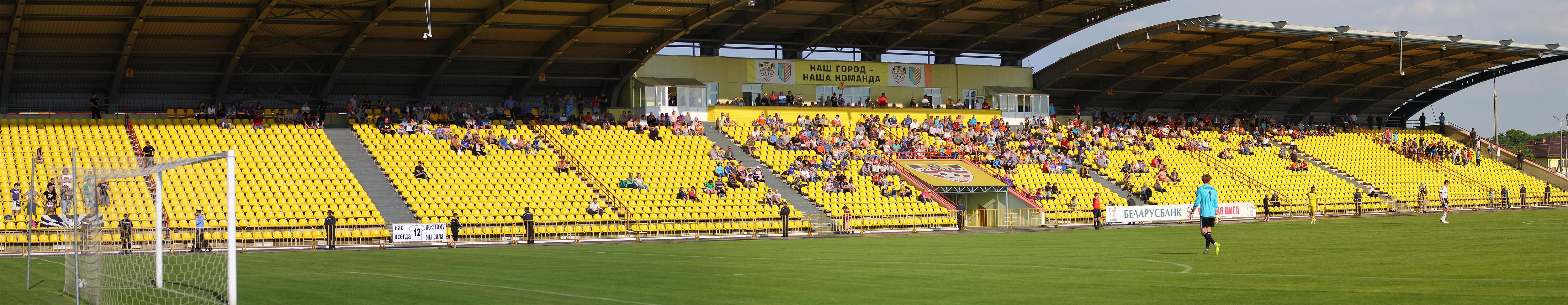 Трибуны стадионов часто пустые («Шахтер» Солигорск)