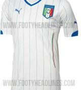Away kit of Italy