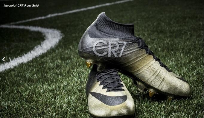 Cristiano Ronaldo New Nike Mercurial Cr7 Rare Gold Black