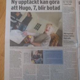 2006 Hugo i tidningen Folket 26 apri i samband med FOP genens upptäckt