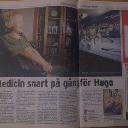2009. Hugo & Marie i tidningen Folket. Med anledning av att Marie hade besökt FOP laboratoriet i Philadelphia/FOP mom retreat i NJ.