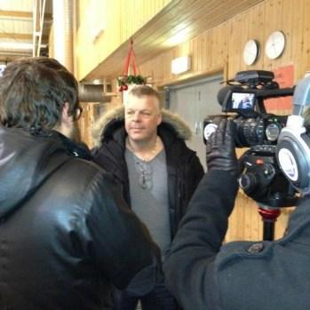 Lagkapten Pelle Fahlberg Intervjuad efter vinsten i Winter Games på Åland 2013