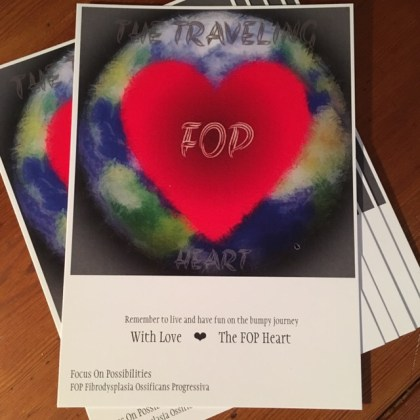 """POSTCARDS The FOP Heart """"Focus on Possibilities"""""""