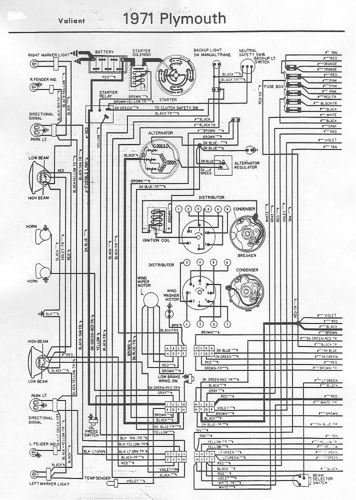 71 barracuda wiring diagram