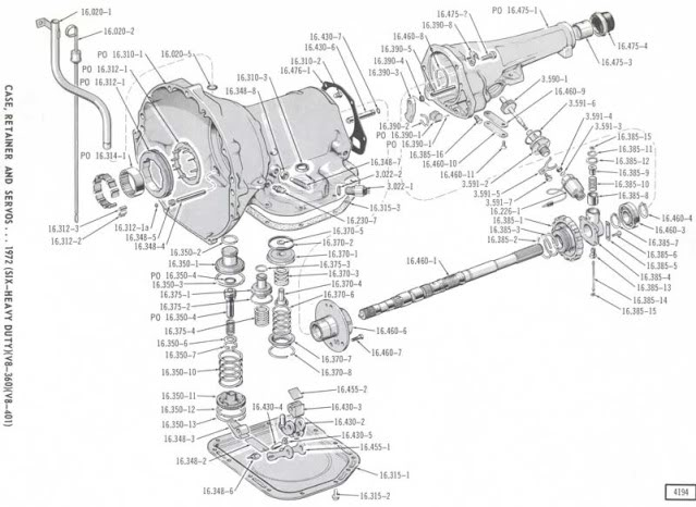 chrysler 727 transmission diagram