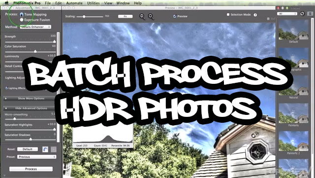Batch Process HDR