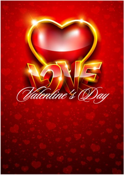 The gorgeous Valentine background 05 - vector material Download Free Vector,PSD,FLASH,JPG--www ...