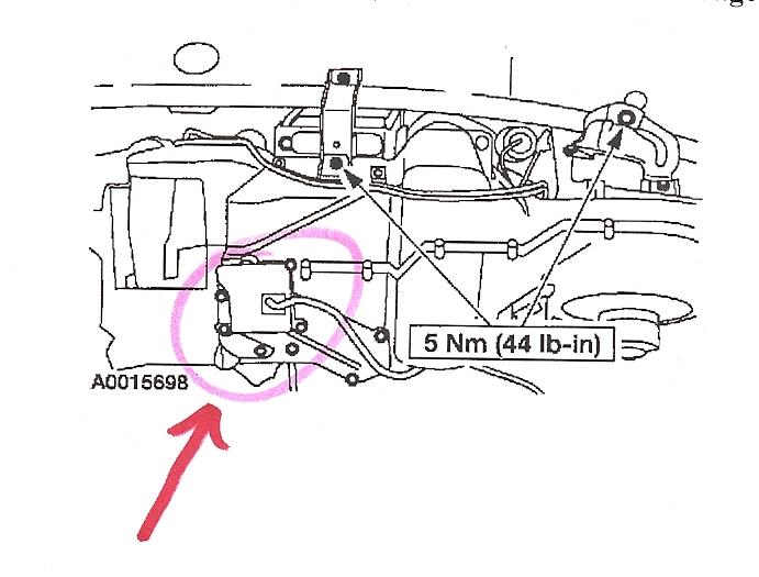 2000 ford taurus hose diagram