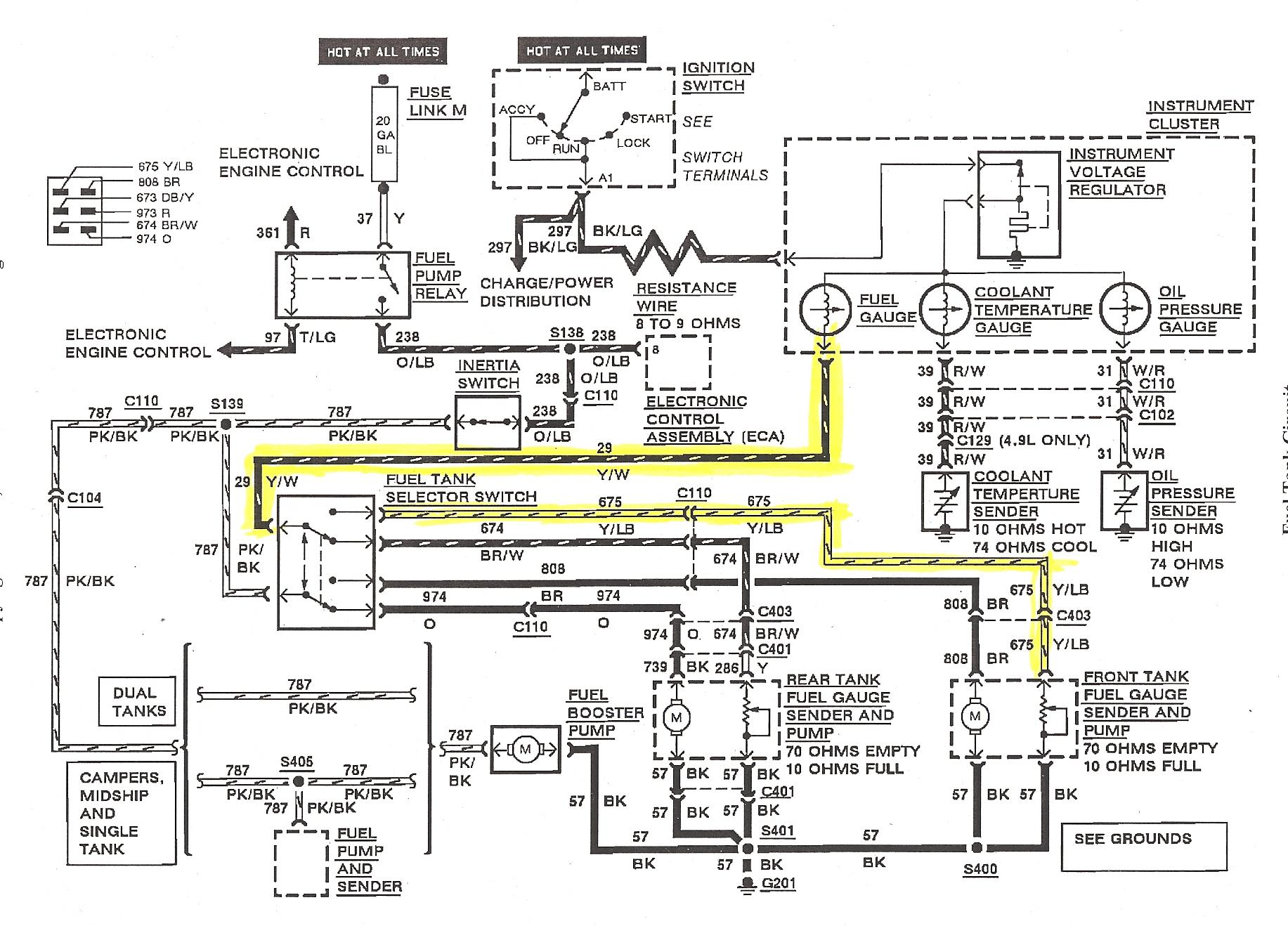 1974 ford fuel sender wiring diagrams