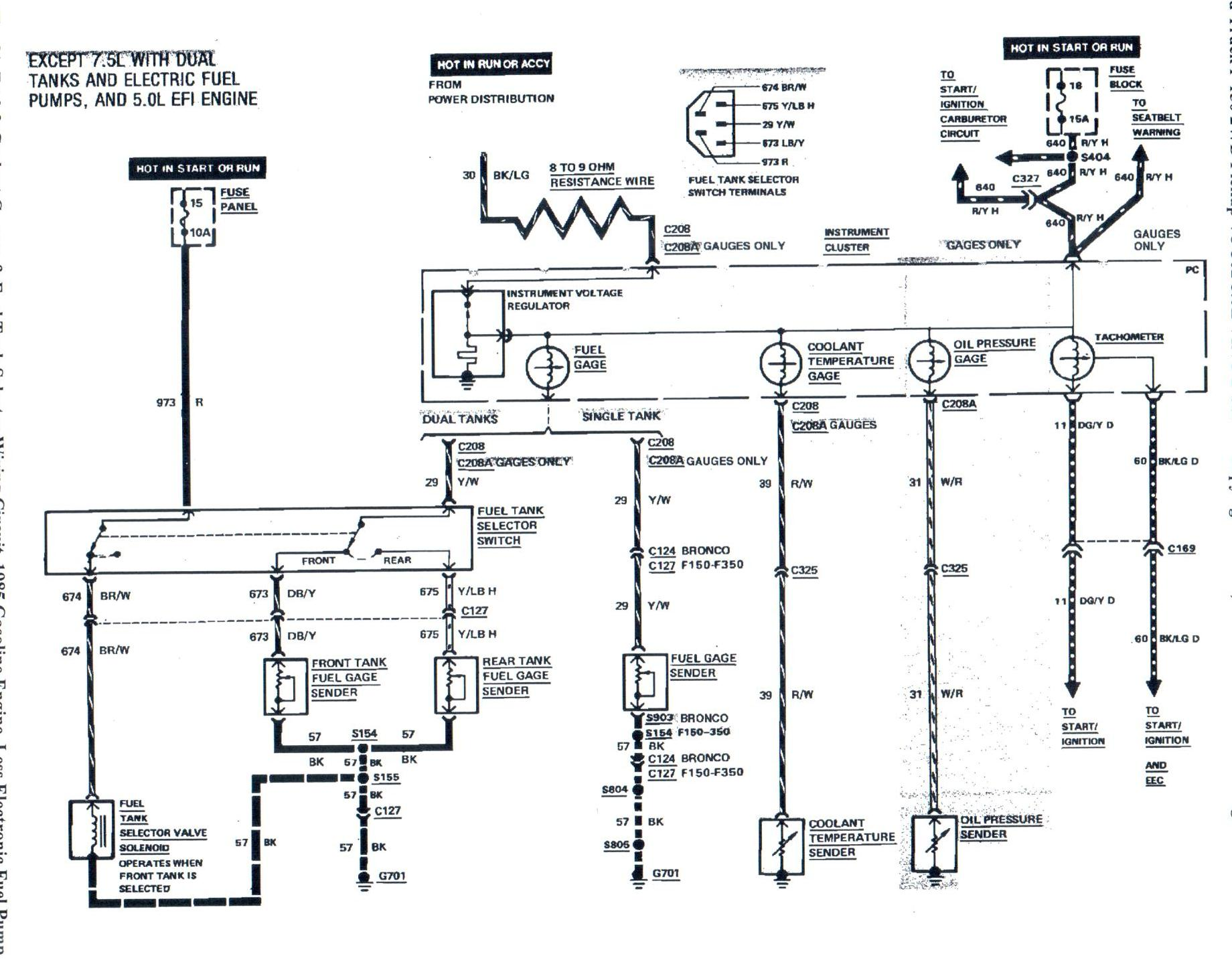 1989 ford f250 fuel system diagram
