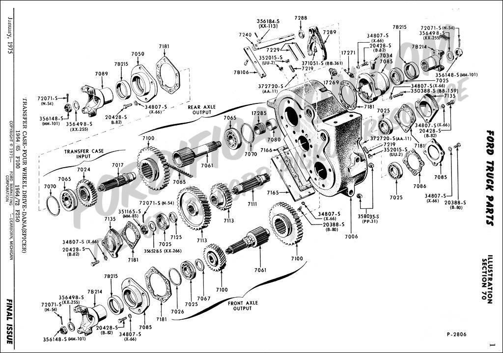ford f 150 transfer case diagram