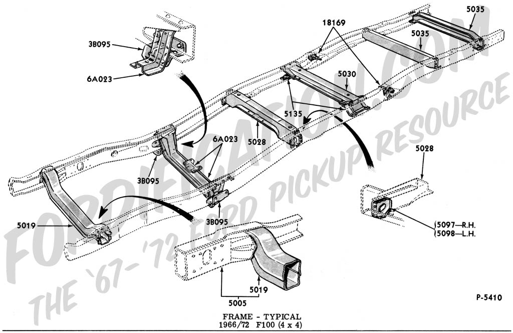 Ford Truck Technical Drawings and Schematics - Section D - Frame