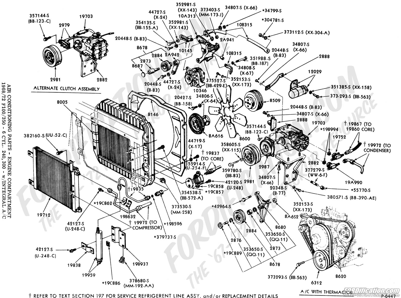 1955 ford engine compartt