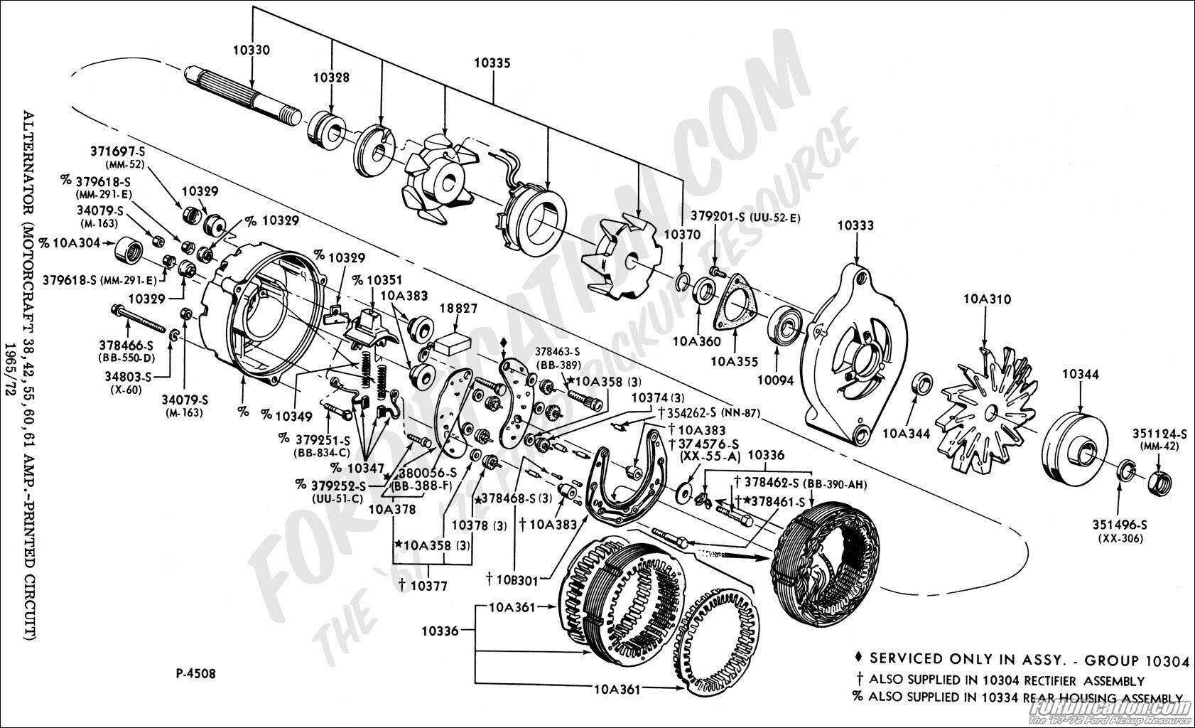 Ford Motorcraft Alternator Wiring