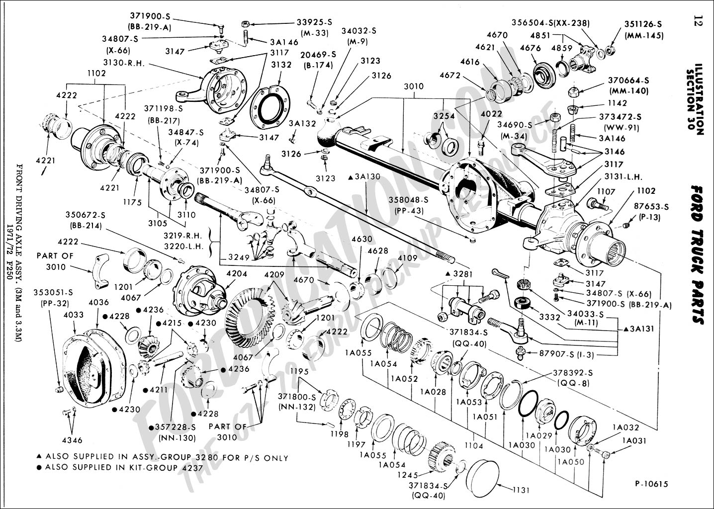 1991 f150 front axle diagram