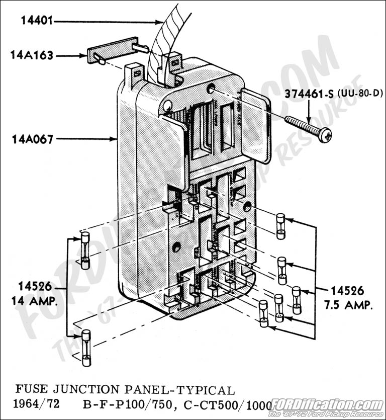 Ford F100 Fuse Box - Wiring Diagram Online