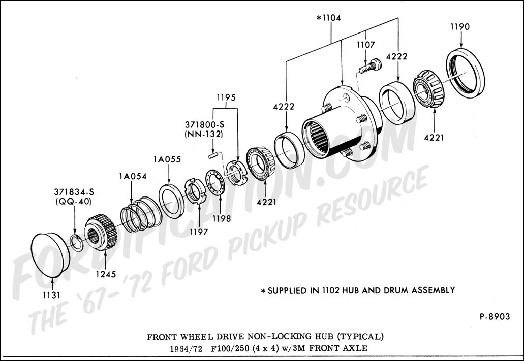 4x4 locking hubs 1984 ford f25exploded diagram