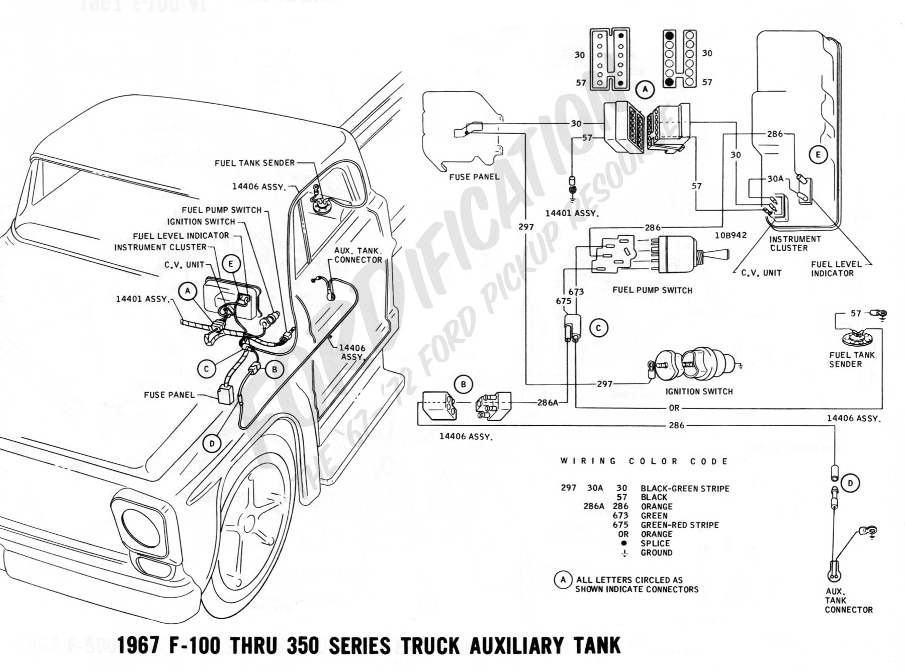 gas gauge wiring diagram for ford 77 c10
