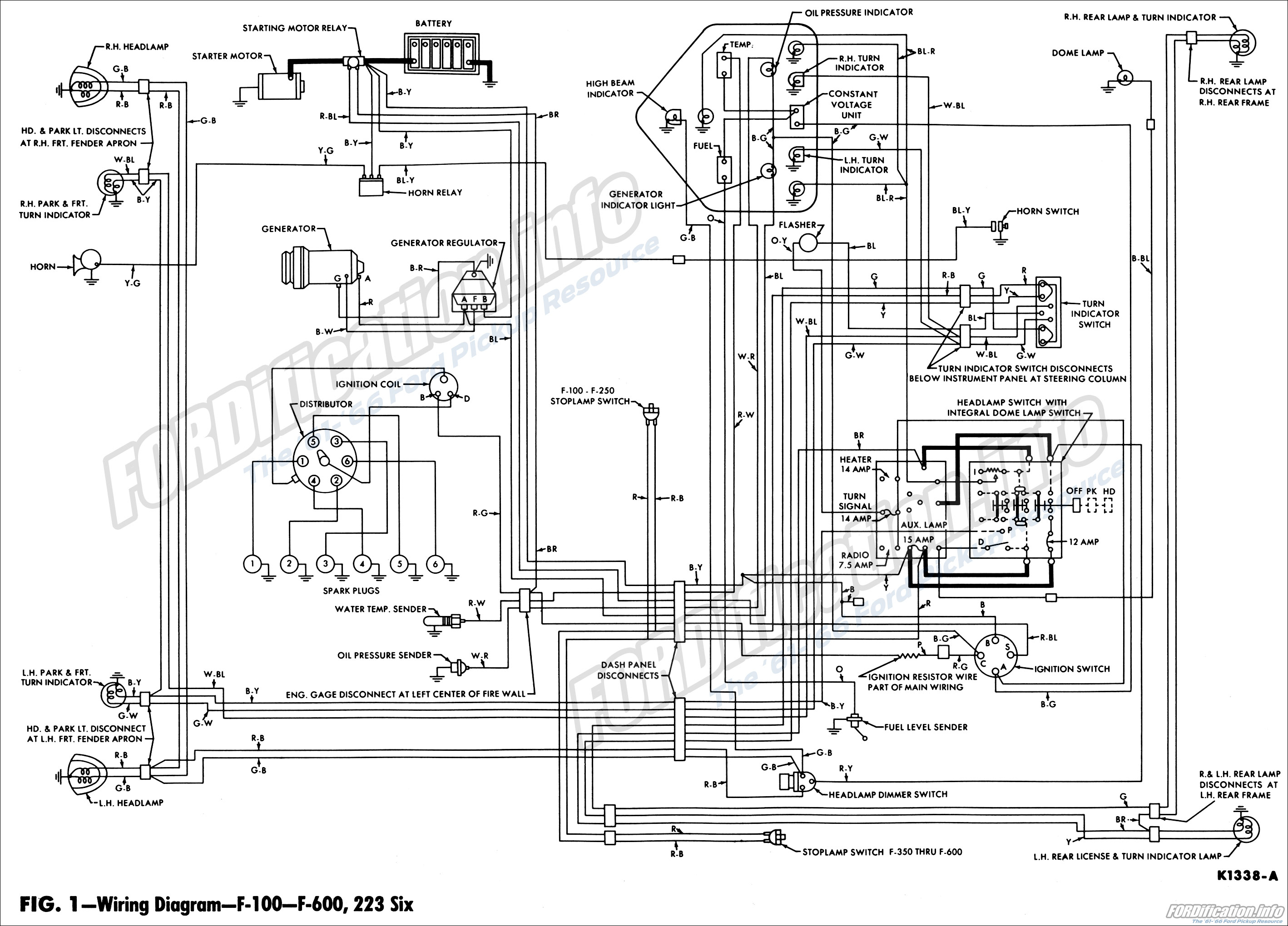 wiring diagram for blinkers on 62 ford f100