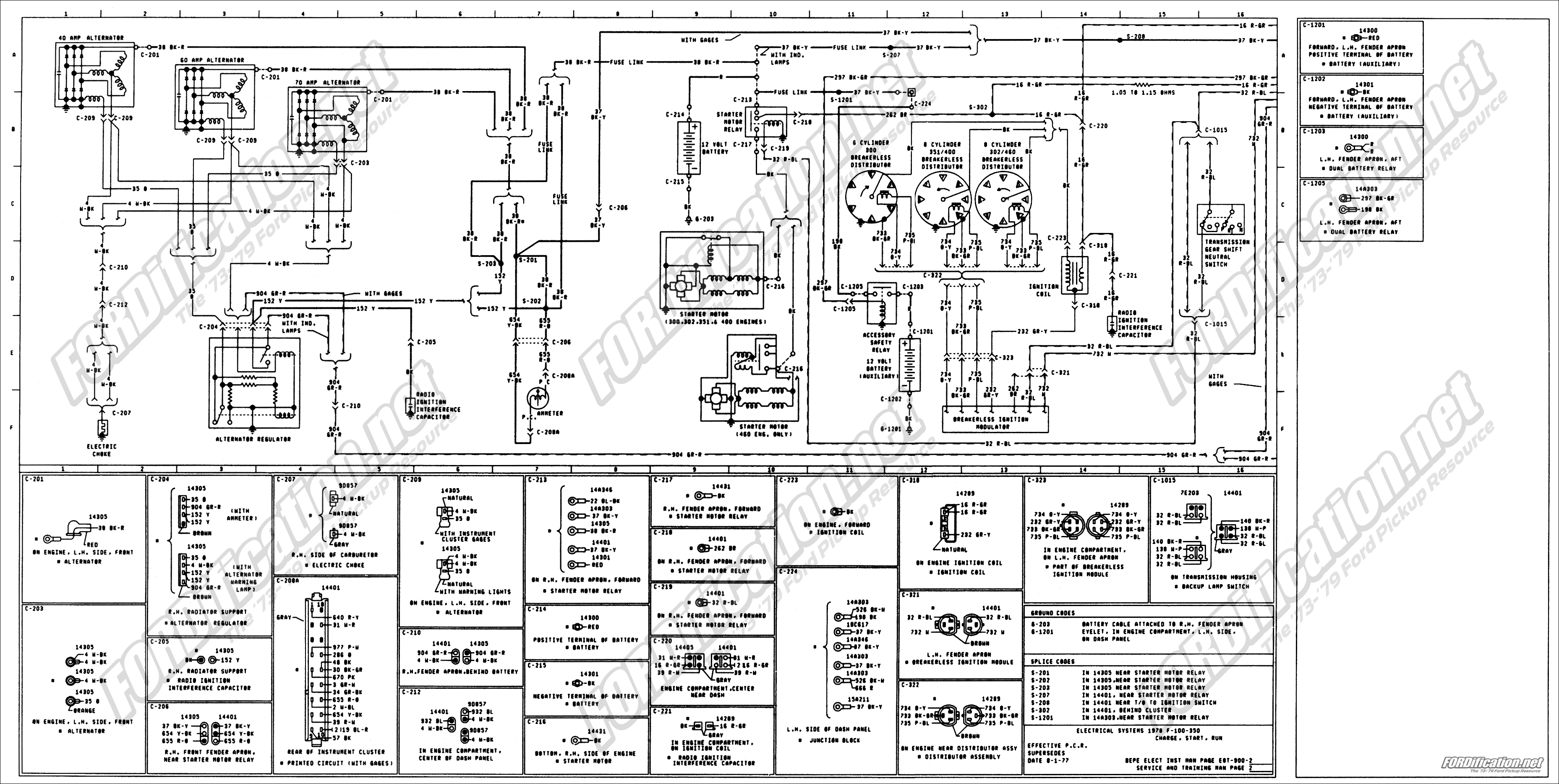 78 ford alternator wiring diagram