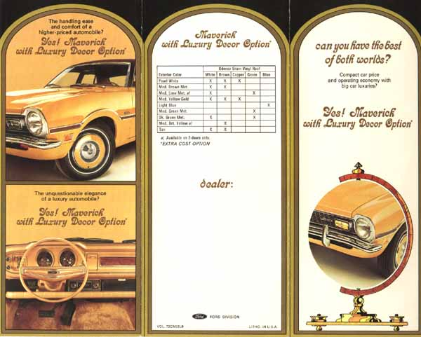 11981 - FORD - Maverick 1977 - 4 portas - 4 e 2 portas - 29x41 - advertisement brochure
