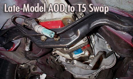 Mustang AOD to T5 Swap Transmission Swap Auto to manual conversion